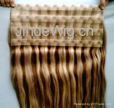 JinDe skin weft 100% human hair extension 2
