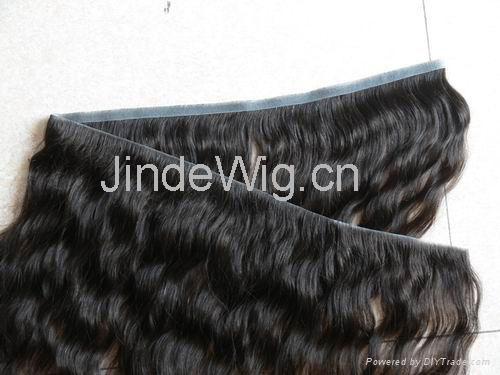 JinDe skin weft 100% human hair extension 3