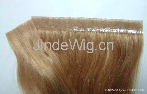 JinDe skin weft 100% human hair extension 4