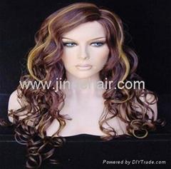 JinDe 100% human hair monofilament wig