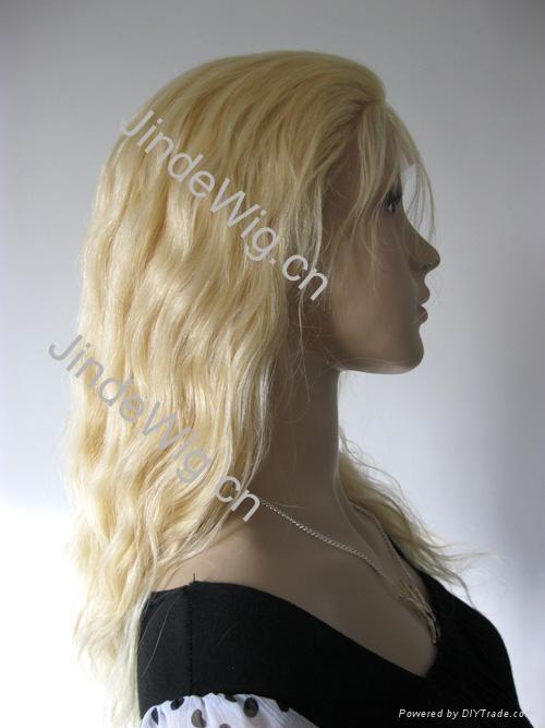 JinDe 100% human hair monofilament wig 4