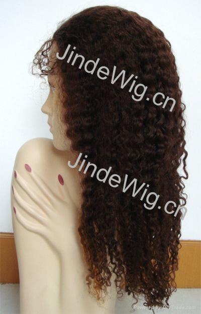 JinDe 100% human hair full lace wig 3