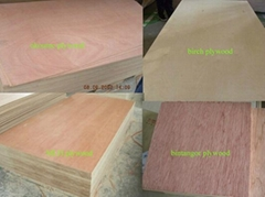 3-30mm plywood timber poplar core with difference wood paper