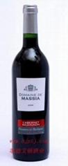 法国原瓶进口葡萄酒玛诗亚庄园佳本娜干红