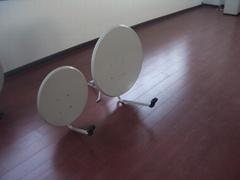 Ku band outddor TV satellite dish antenna ground mount
