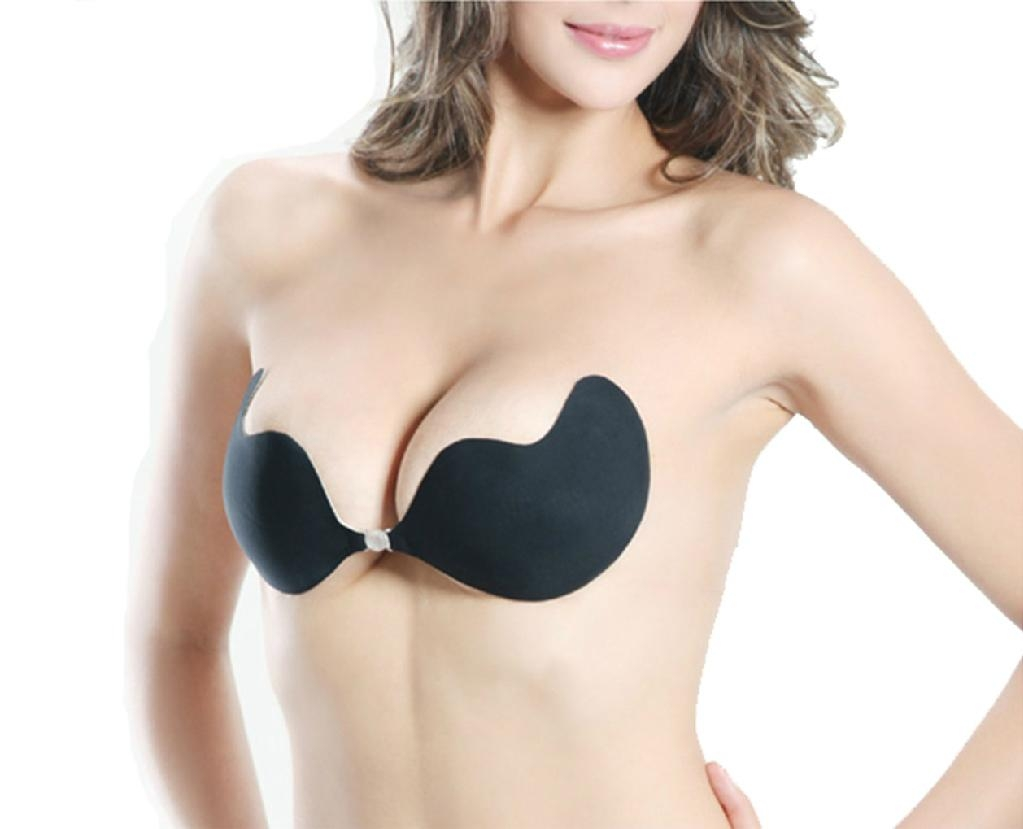 2colors Sexy Cotton Bust Self-adhesive Front Closure Strapless Bra ...