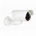 BellehomeWhite Realistic Dummy Cctv Ip Cameras with Flashing LED Light,wireless
