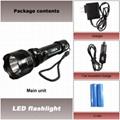 3 Switch mode&Black CREE LED K8 Rechargeable Flashlight  500Lumens