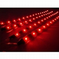 Bellehome~4x 30cm LED Car Flexible Waterproof Light Strip Red