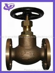 sell JIS Standard Marine Bronze Globe Valves 5K