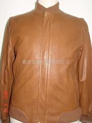 men's leather garment