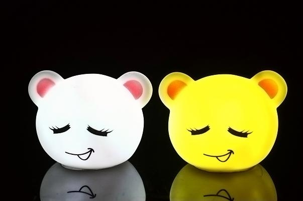 超級可愛熊子表情LED夜燈數碼彩繪機 1