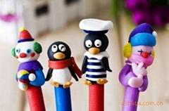 韩国文具圆珠笔百款不重复软瓷手工圆珠笔喷绘设备