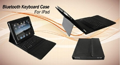 Ipad bluetooth keyboard for IPad with Ipad leather case