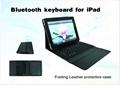 2011 new electronics Ipad bluetooth keyboard with Ipad leather case 2