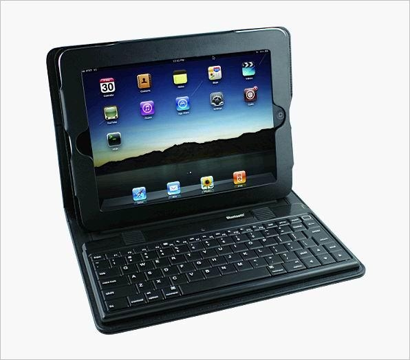 2011 new electronics Ipad bluetooth keyboard with Ipad leather case KB-6132 1