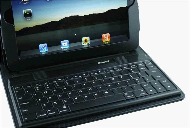 2011 new electronics Ipad bluetooth keyboard with Ipad leather case KB-6132 2