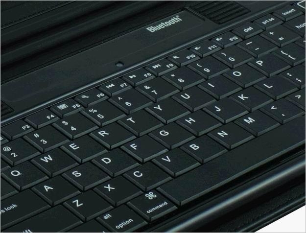 2011 new electronics Ipad bluetooth keyboard with Ipad leather case KB-6132 5