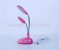 (2 in 1)Desk lamp and fan 14PCS lamp and fan USB lamp and fan 4