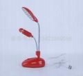 (2 in 1)Desk lamp and fan 14PCS lamp and fan USB lamp and fan 5
