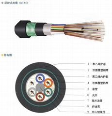 GYFTA 53 Strand  loose tube burial optical fiber cable