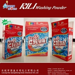 high foam and low density detergent powder in box