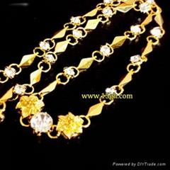 供應女士鑲鑽鍍金項鏈