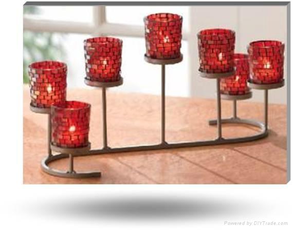 mosaic candle holder 1