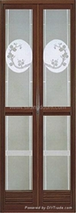 aluminum folding door with shutter