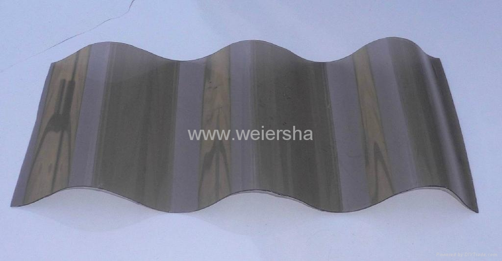UV- protect polycarbonate  corrugated roofing sheet for greenhouse 1
