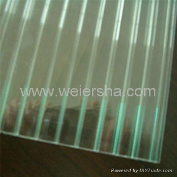 triple wall,double wall polycarbonate hollow roofing sheet 2