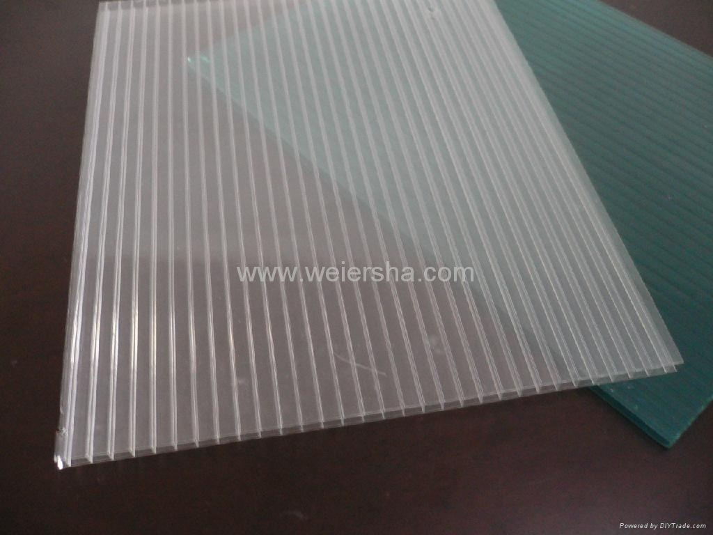 hollow polycarbonate multiwall roofing sheet 2
