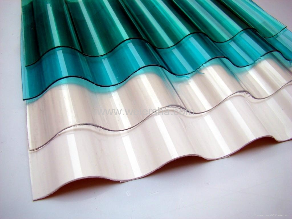 greenhouse roofing,wall corrugated  polycarbonate sheet 5
