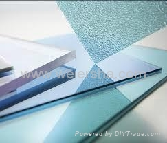 colourful solid/embossed polycarbonate sheet for bathroom,greenhouse 4