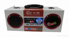 Multimeida radio speaker with usb/sd
