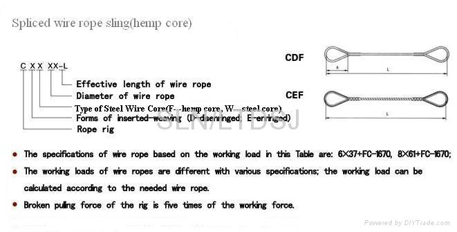 Spliced wire rope sling - SLN (China Manufacturer) - Vessel Parts ...