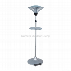 NPO-15L20 Stailess Steel Outdoor Electric Patio Heater with Wheel & Drink Table