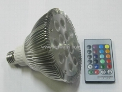 12w RGB par38 LED spot light