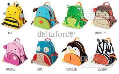 cute childrens pocket Satchel bag boys girls Animal bags backpack -