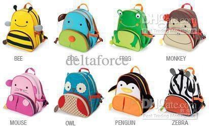 cute childrens pocket Satchel bag boys girls Animal bags backpack ...