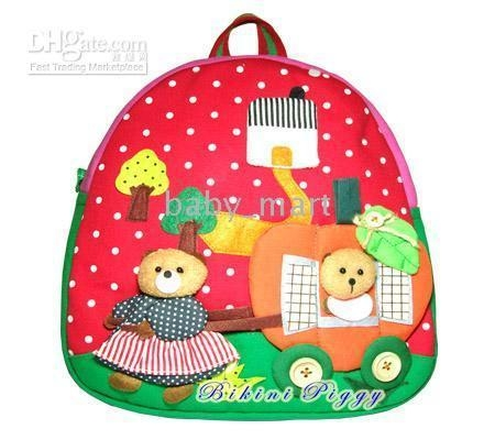 Children's backpacks baby Kids Handmade Backpack Schoolbag school bags ...