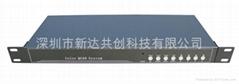 彩色機架式帶RS485串口4路畫面分割器