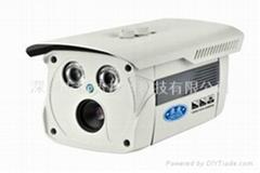 双灯阵列式红外防水监控摄像机