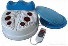 Foot massager with infrared heating