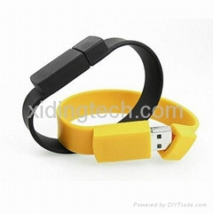 Promotional Wristband usb flash drives,Made of PVC Material,Customized Logo