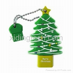 Customized Promotional Christmas tree USB Flash Stick Memory Drives