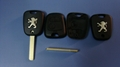 Peugeot remote key shell in two button