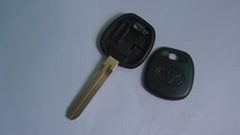 New style Toyota key shell   TOY43  Position for TPX1 TPX2 and carbon chip