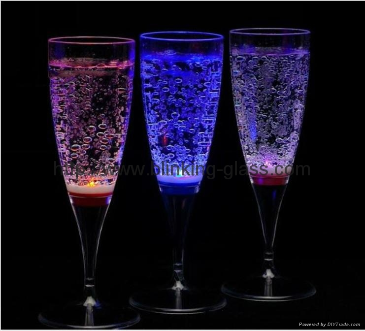 Led champagne glass gl m142b galyford china manufacturer luminous fluorescent items - Flute a champagne led ...