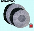 Non-woven cap for wheel rim anti-dust